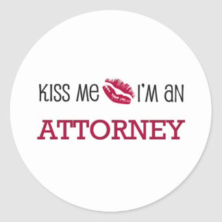 Kiss Me I'm an ATTORNEY Stickers