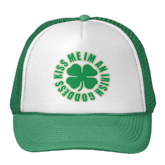 Kiss Me Im an Irish Goddess Mesh Hats