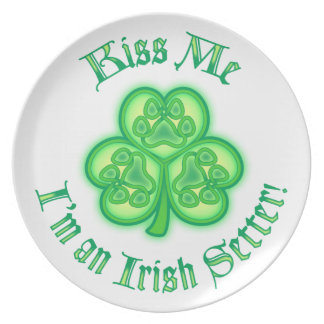 Kiss Me - I'm an Irish Setter Plate