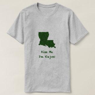 Kiss Me I'm Cajun St. Patrick's Day Shamrock Shirt