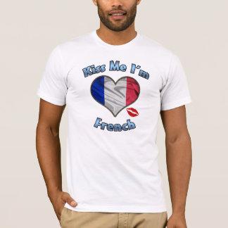 Kiss Me I'm French Flag T-Shirt - Bastille Day