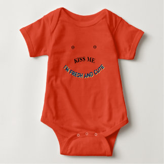Kiss Me I'm Fresh and Cute Baby Bodysuit