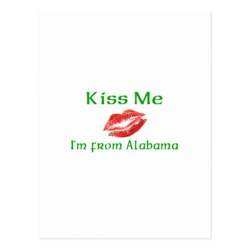Kiss Me I'm from Alabama Postcard