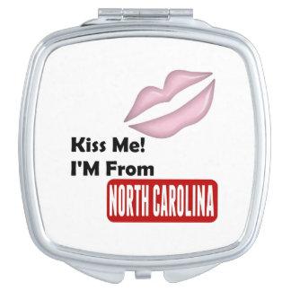 Kiss Me, I'M From North Carolina Compact Mirrors