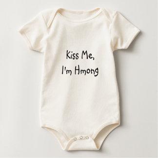 Kiss Me,I'm Hmong Baby Bodysuit