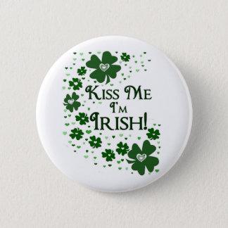 Kiss Me I'm Irish 6 Cm Round Badge