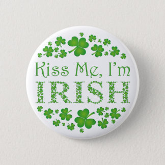 Kiss Me I'm Irish 6 Cm Round Badge