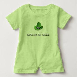 KISS ME IM IRISH BABY SUIT BABY BODYSUIT