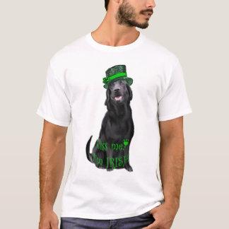 Kiss Me, I'm Irish Black lab T-Shirt