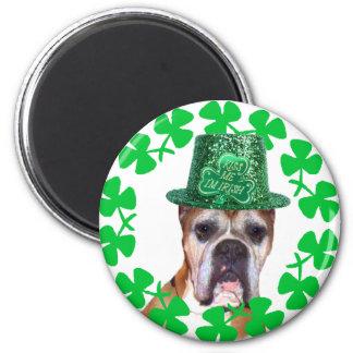 Kiss me I'm Irish Boxer Dog magnet