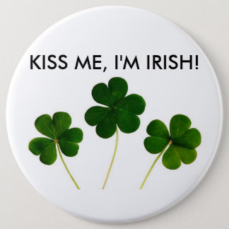 KISS ME, I'M IRISH BUTTON