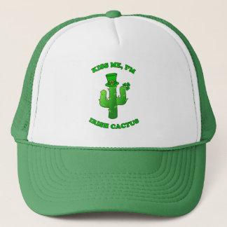 Kiss Me I'm Irish Cactus With Shamrock And Hat