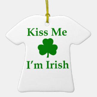 Kiss Me I'm Irish Christmas Tree Ornaments