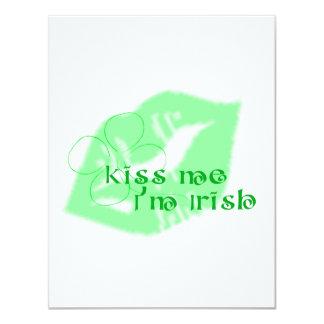 Kiss Me I'm Irish 11 Cm X 14 Cm Invitation Card