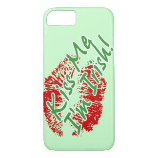 Kiss Me I'm Irish Lips  -customizable iPhone 8/7 Case