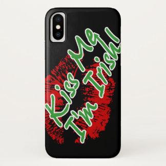 Kiss Me I'm Irish Lips iPhone X Case