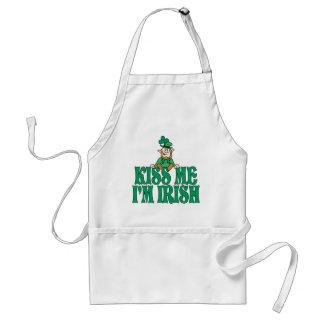 Kiss Me I'm Irish Little Leprechaun Standard Apron