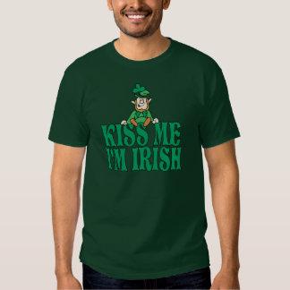 Kiss Me I'm Irish Little Leprechaun T Shirt