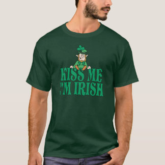 Kiss Me I'm Irish Little Leprechaun T-Shirt