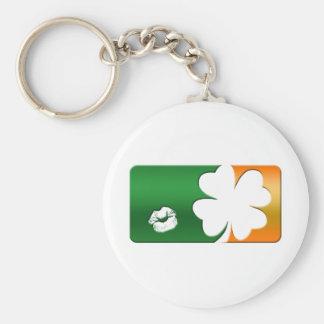 Kiss Me I'm Irish Logo Basic Round Button Key Ring
