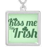 Kiss me I'm Irish Personalized Necklace