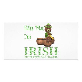 KISS ME I'M IRISH PICTURE CARD