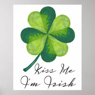 Kiss Me I'm Irish Poster