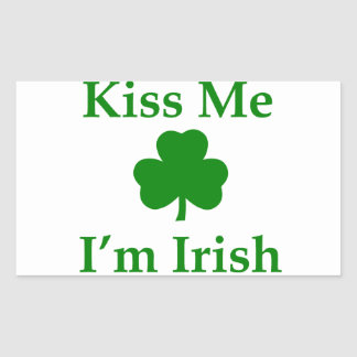 Kiss Me I'm Irish Rectangular Sticker