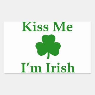 Kiss Me I'm Irish Rectangular Sticker
