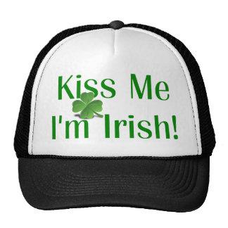 Kiss Me I'm Irish Shamrock Hat
