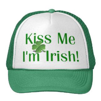 Kiss Me I'm Irish Shamrock Mesh Hats