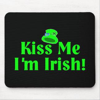 Kiss Me I'm Irish Shamrock Mouse Pad
