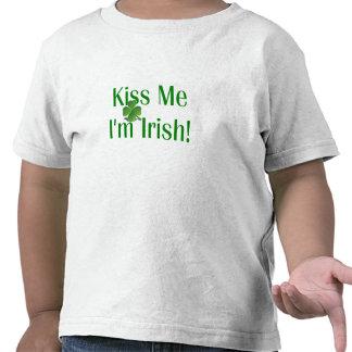 Kiss Me I'm Irish Shamrock T-shirt