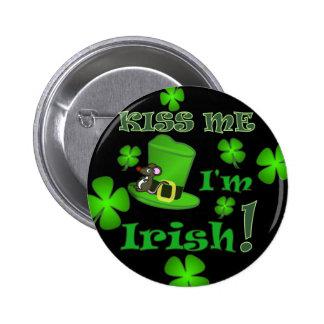 Kiss Me I'm Irish - St Patricks Day Pin