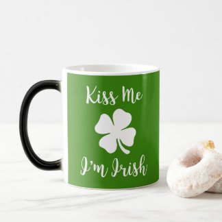 KISS ME, I'M IRISH - St. Patrick's day Magic Mug