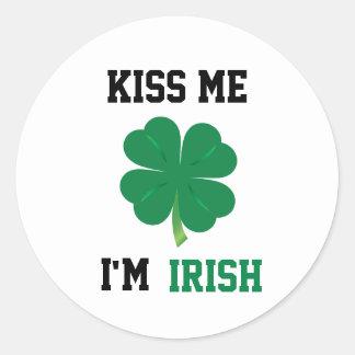 Kiss Me I'm Irish Stickers