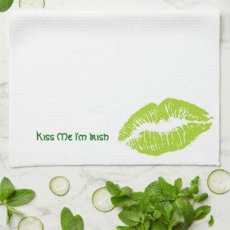Kiss Me I'm Irish Tea Towel