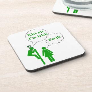 Kiss me I'm, Irish toilet sign Coaster