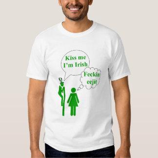 Kiss me I'm Irish toilet sign T Shirts