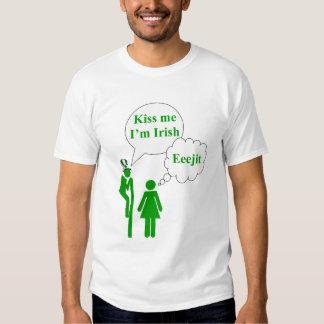 Kiss me I'm Irish toilet sign T-shirts