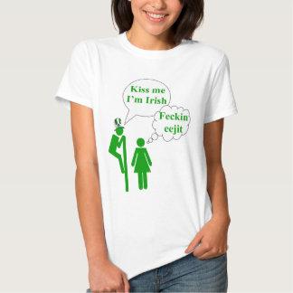 Kiss me I'm Irish toilet sign Tees