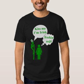 Kiss me I'm Irish toilet sign Tshirts