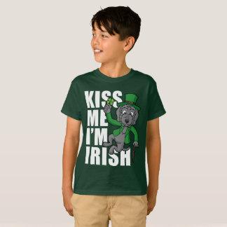 Kiss Me I'm Irish Wolfhound T-Shirt