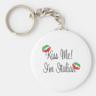 Kiss Me! I'm Italian Key Ring