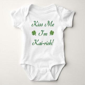 Kiss Me I'm Kai-rish! Baby Bodysuit