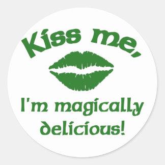 Kiss Me I'm Magically Delicious Round Sticker