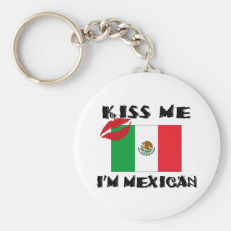Kiss Me I'm Mexican Keychain