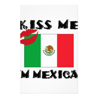 kiss me i'm mexican stationery