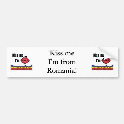 Kiss Me I'm Romanian Bumper Stickers