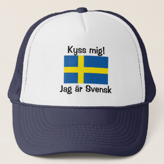 Kiss Me! I'm Swedish Trucker Hat